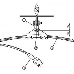 가공지선 현수장치(16Ton)